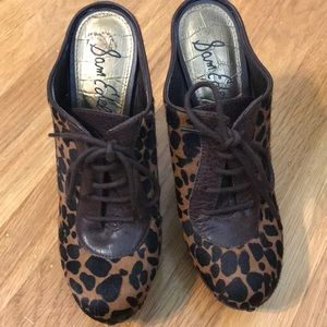 Sam Edelman animal print lace up mule 8